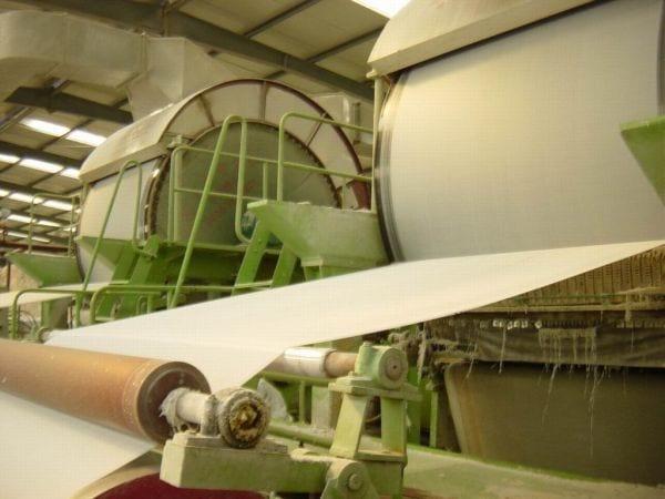 Operaciones de proceso de pasta y papel