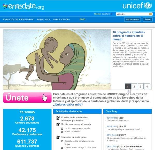 Enrédate es el proyecto de UNICEF para los centros escolares
