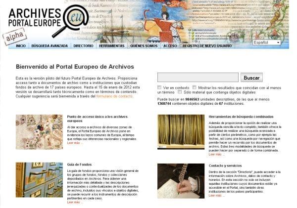 Portal europeo de archivos