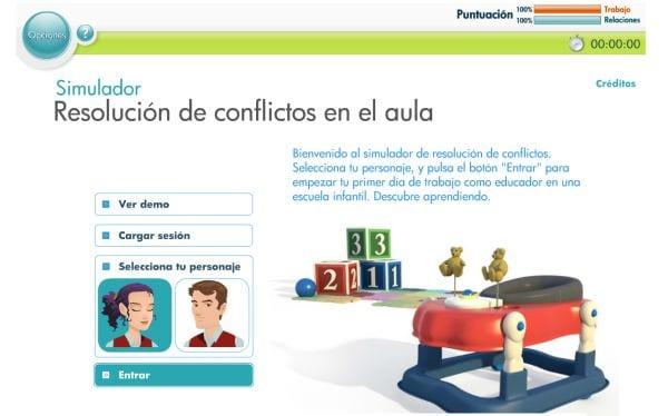 Simulador de resolución de conflictos en el aula