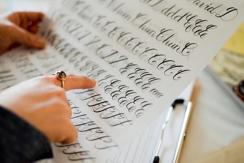 Tipos de caligrafía artística