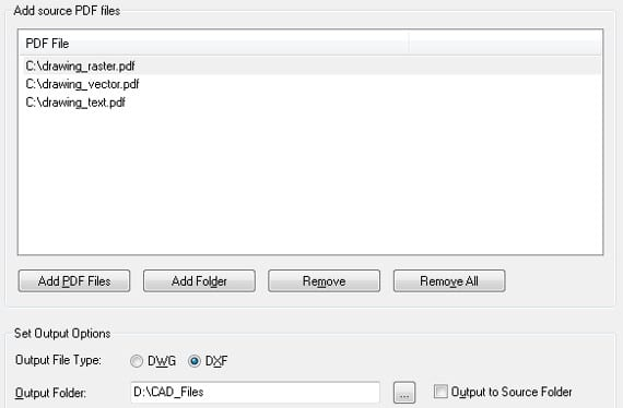 Aide PDF to DXF Converter