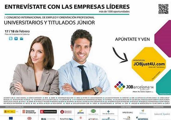 Más de 10000 jóvenes participan en un congreso de empleo en Barcelona