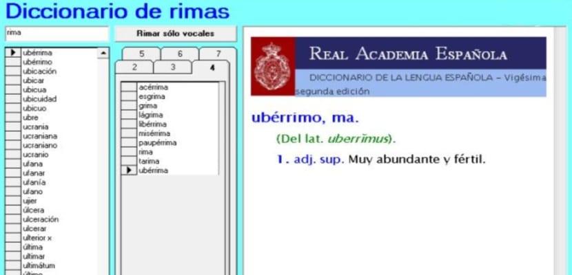 Diccionario de Rimas