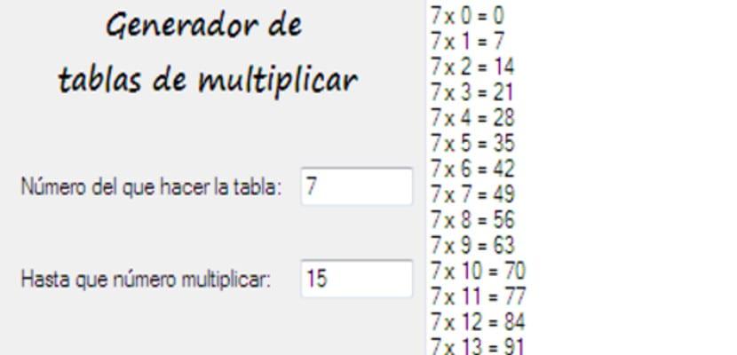Generador de Tablas de Multiplicar