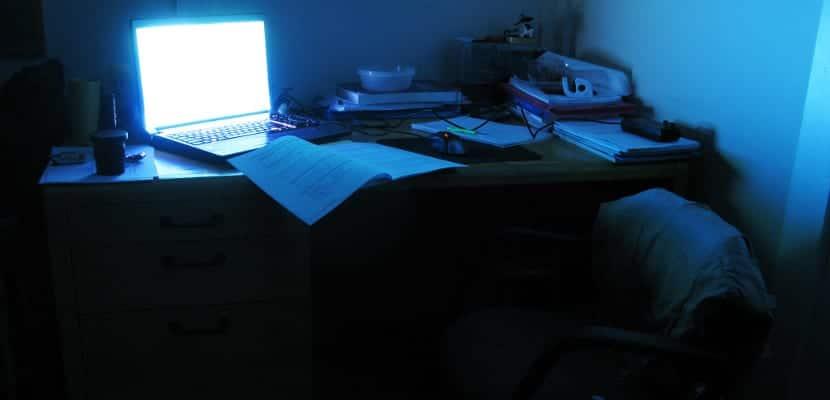 Estudiando por la noche