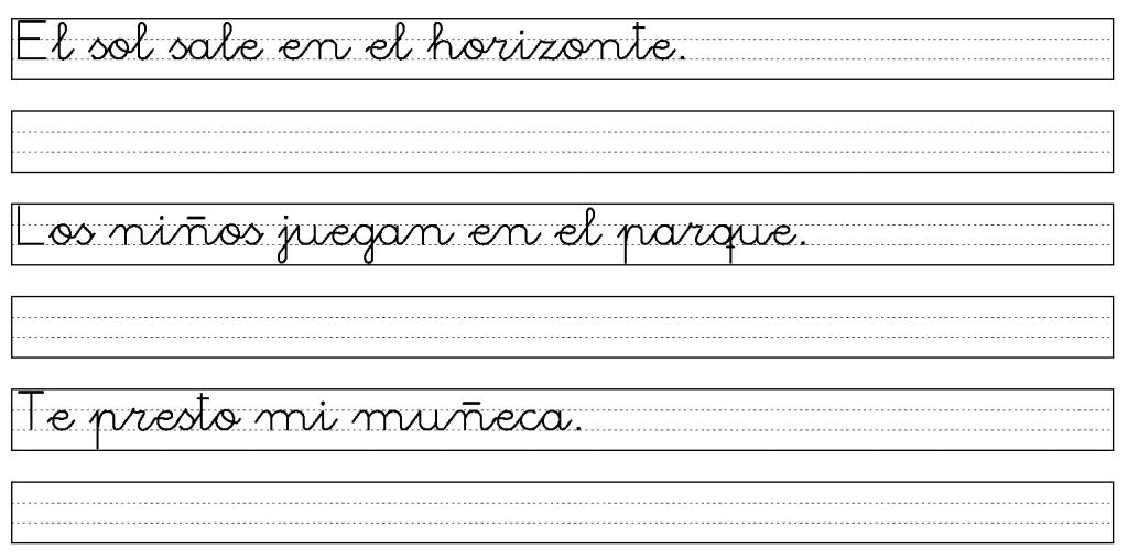 Ejemplos de caligrafía para adultos