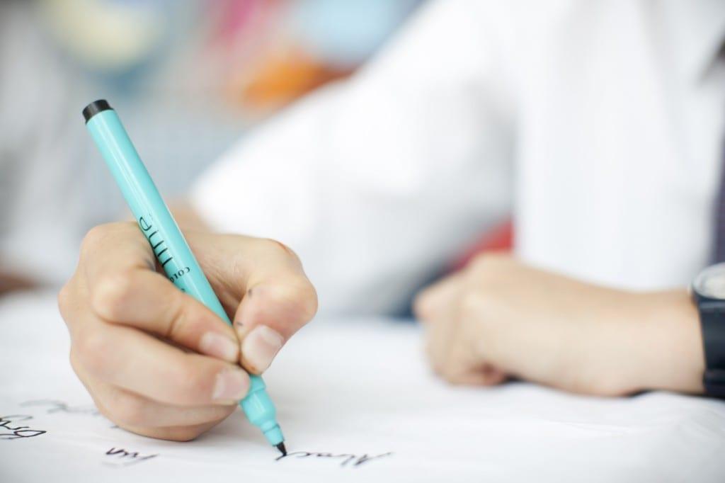 Cuaderno de caligrafía para adultos