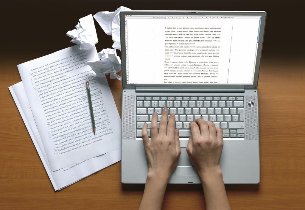 escritor ordenador