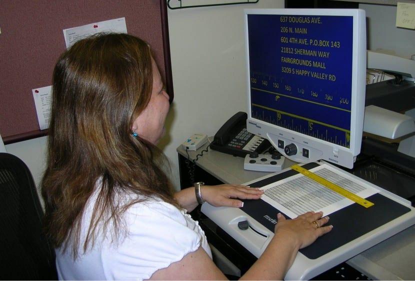 discapacidad visual ordenador