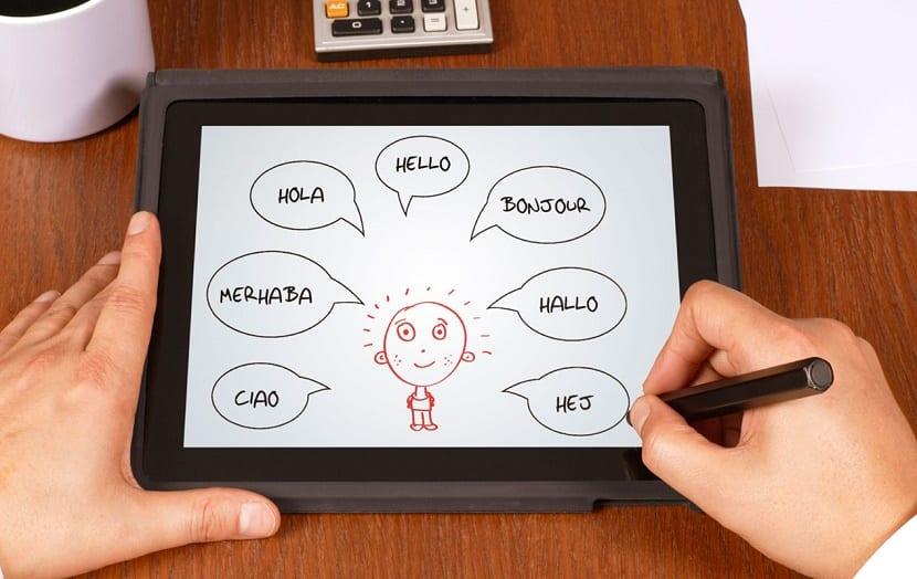 aprender un nuevo idioma tablet