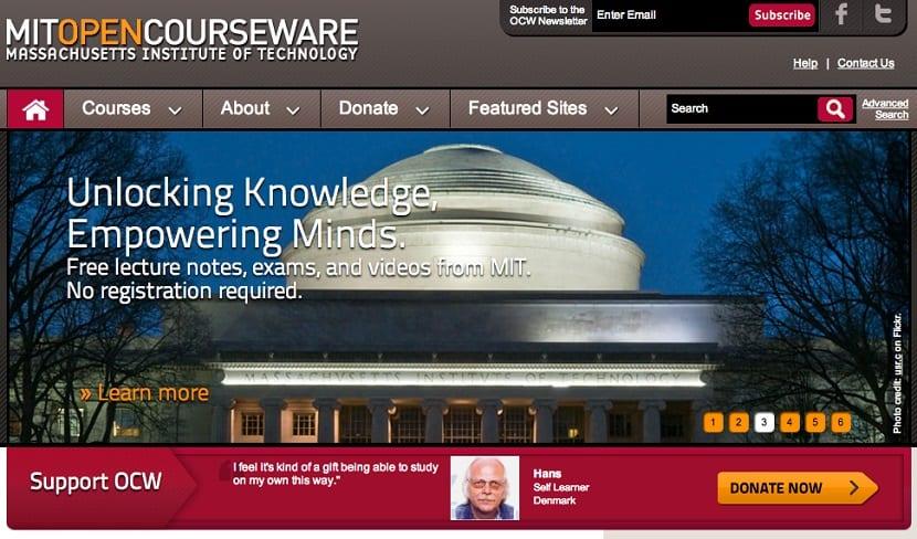 El MIT pone todos sus cursos online gratis