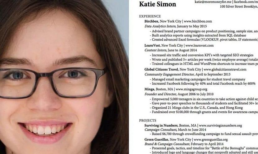 las claves de Katie Simon para un currículum perfecto