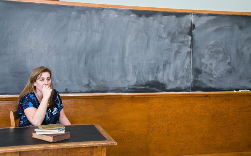 profesora que esta preocupada